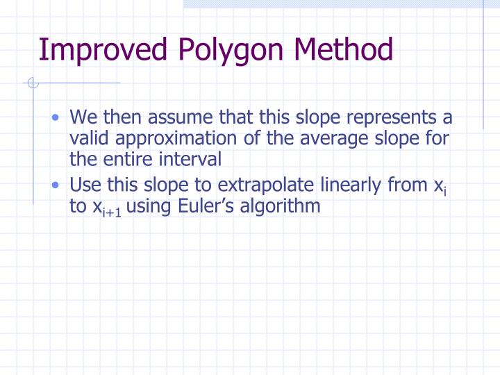 Improved Polygon Method