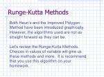 runge kutta methods