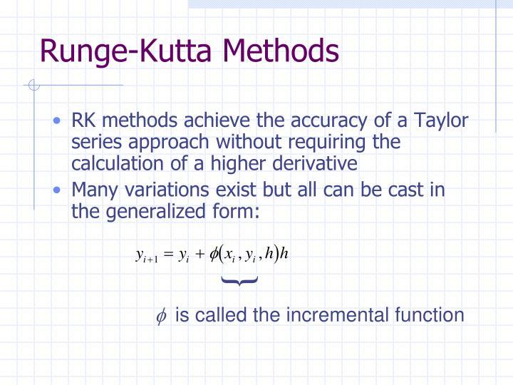 Runge-Kutta Methods