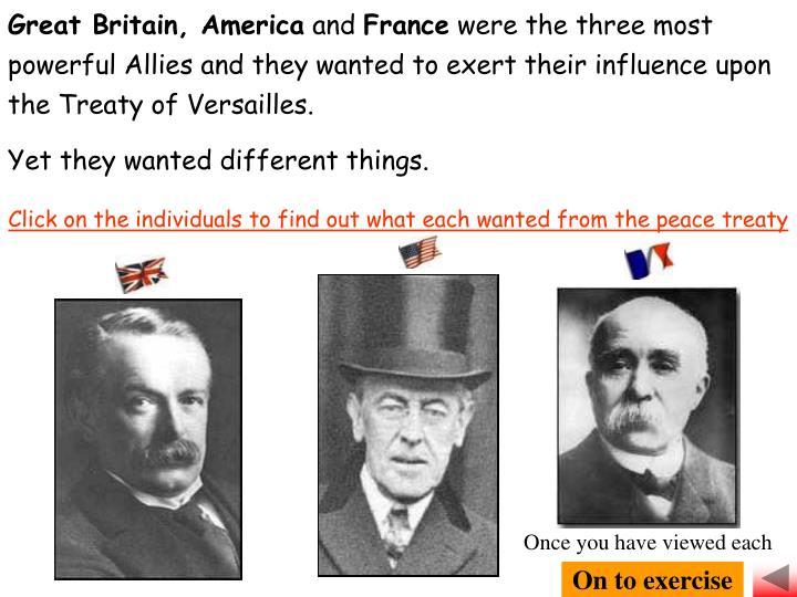 Great Britain, America