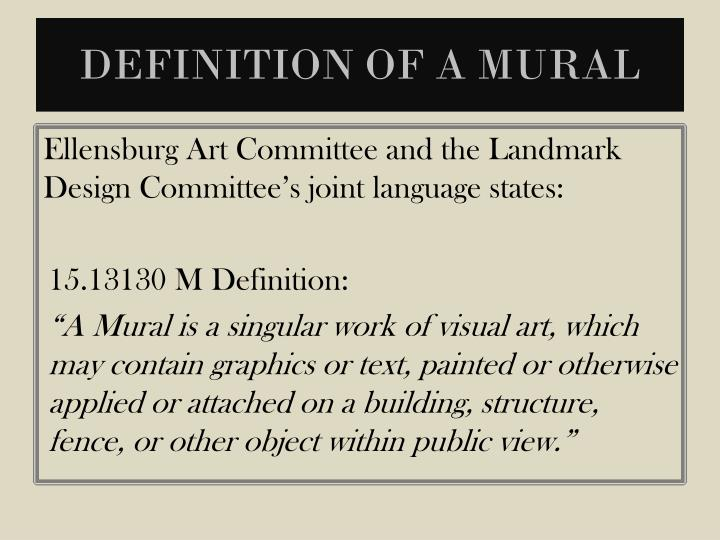 Definition of a mural