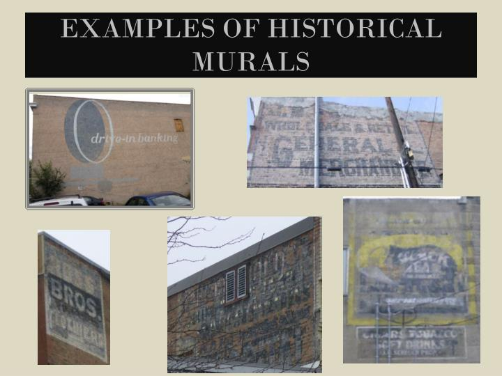 Examples of Historical Murals