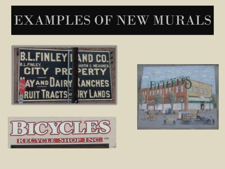 Examples of New Murals