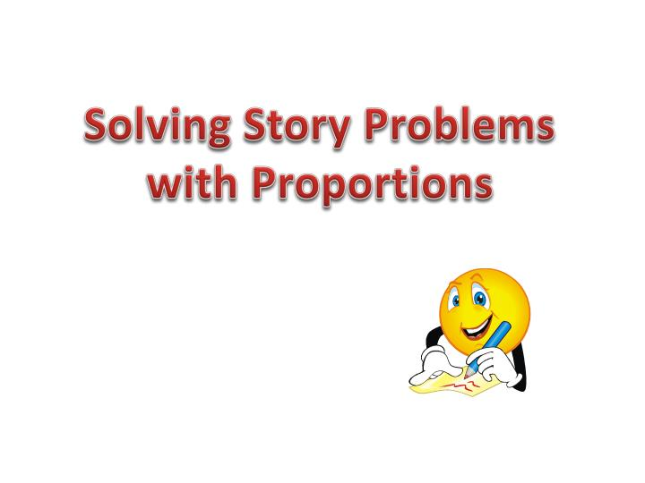 Solving Story Problems