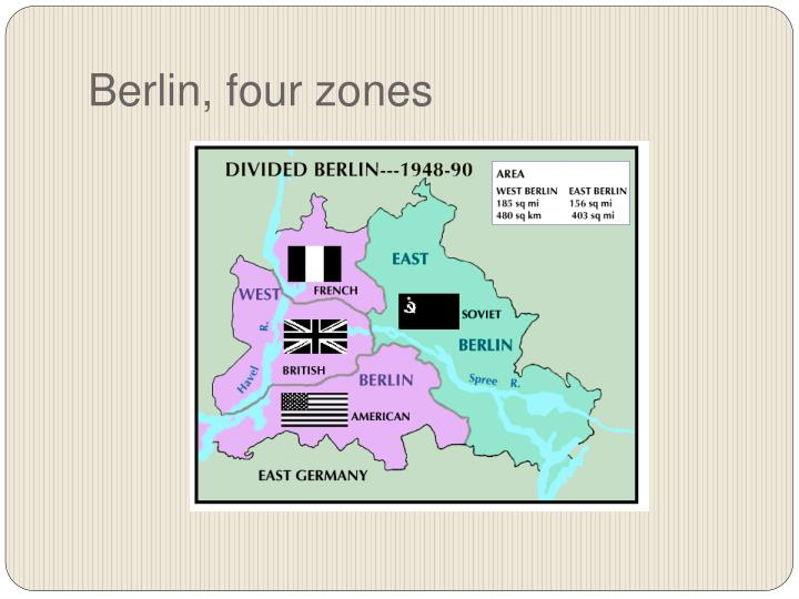 Berlin, four zones