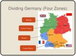 dividing germany four zones