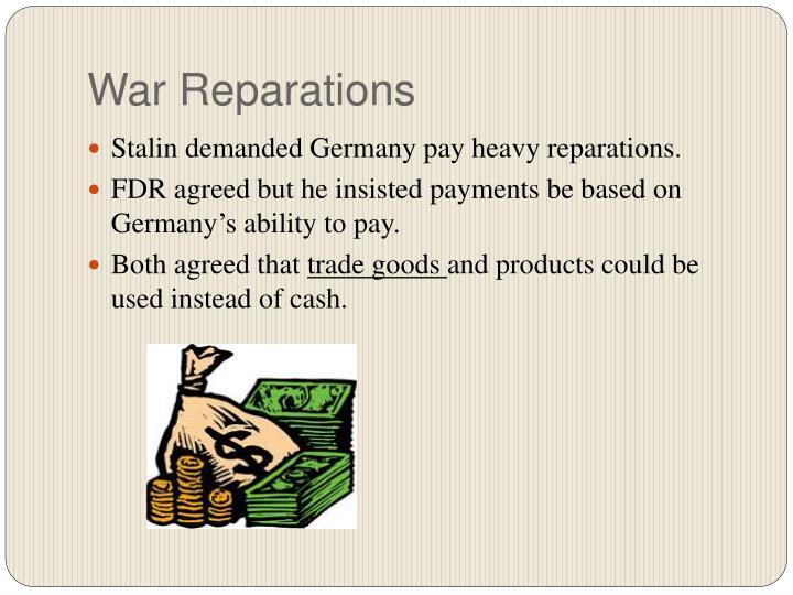 War Reparations