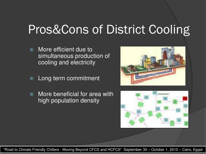 Pros&Cons of District Cooling