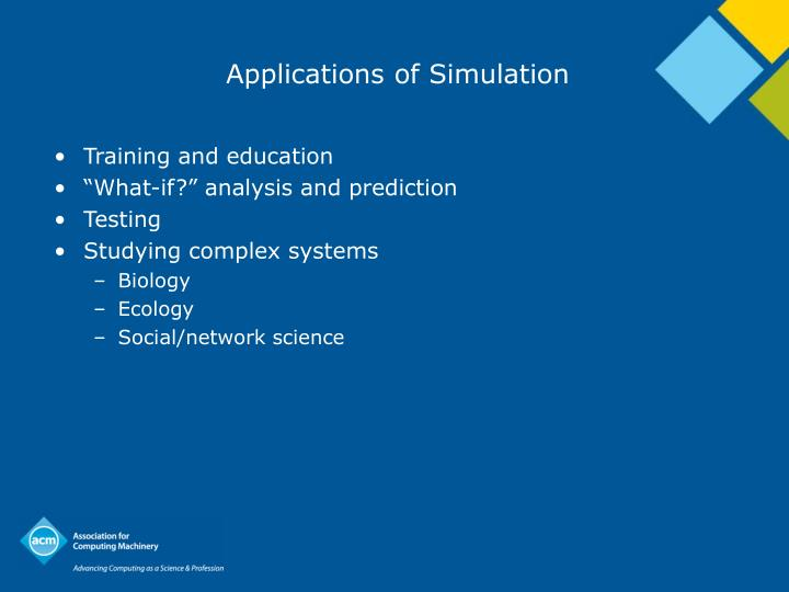 Applications of Simulation