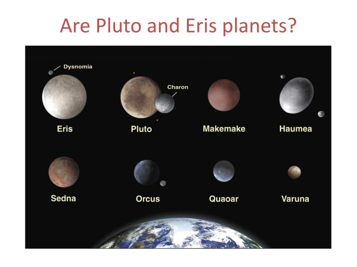 Are Pluto and Eris planets?