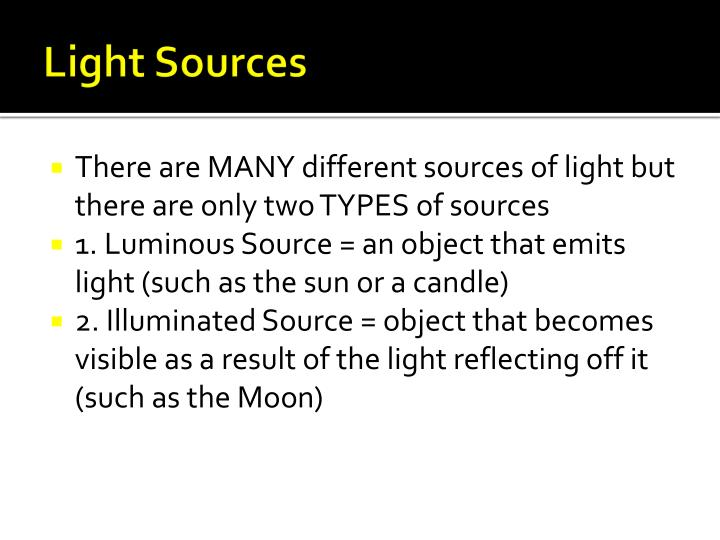 Light Sources