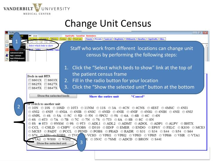 Change Unit Census
