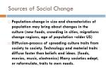 sources of social change1