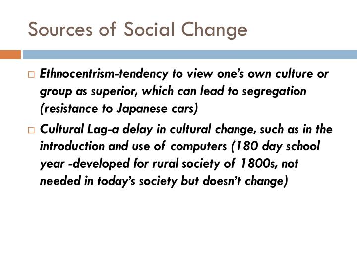 Sources of Social Change
