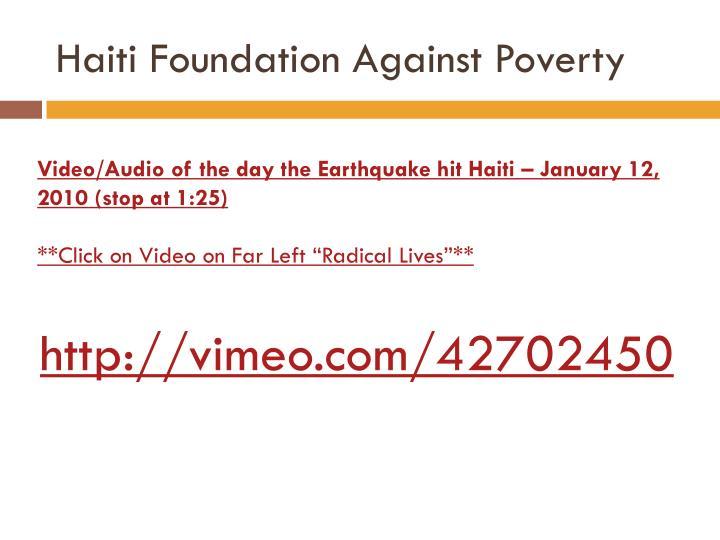 Haiti Foundation Against Poverty