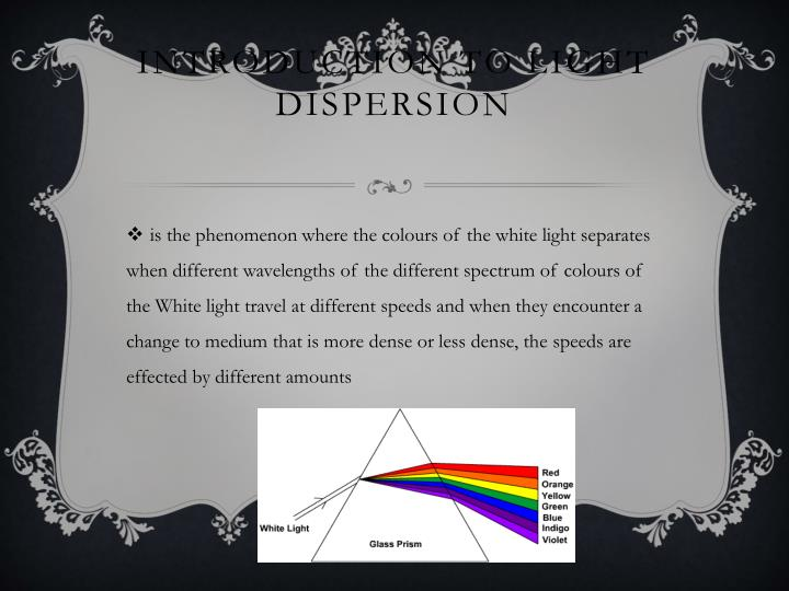 Introduction to light dispersion