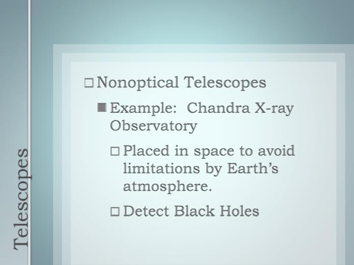 Nonoptical Telescopes