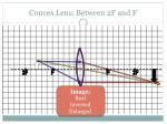 convex lens between 2f and f