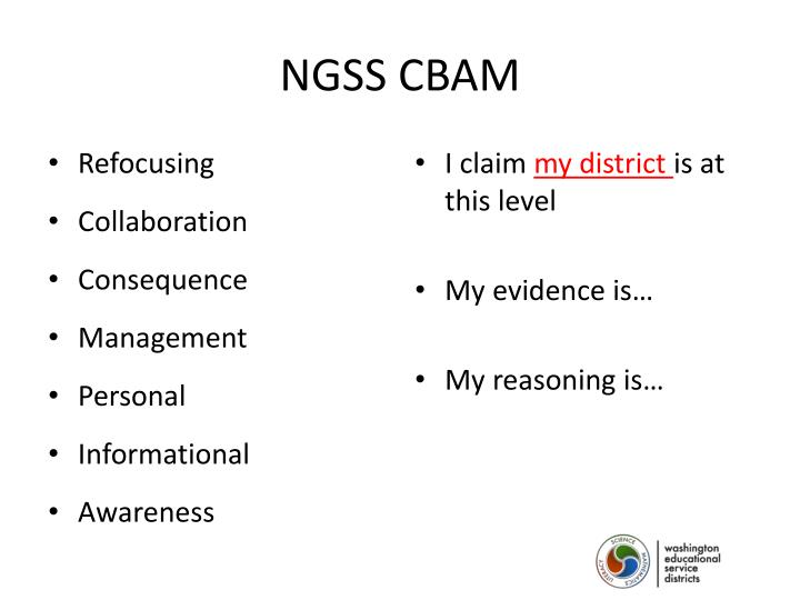 NGSS CBAM