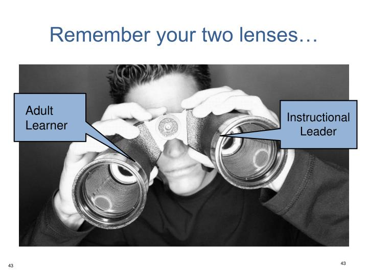 Remember your two lenses…