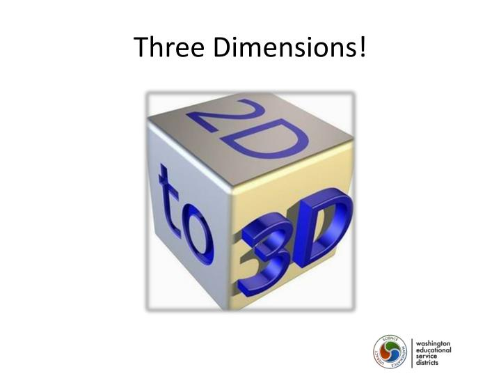 Three Dimensions!