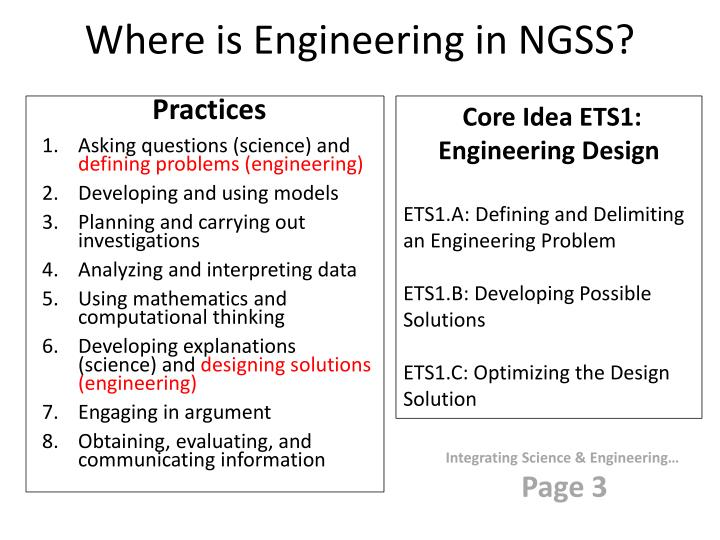 Where is Engineering in NGSS?
