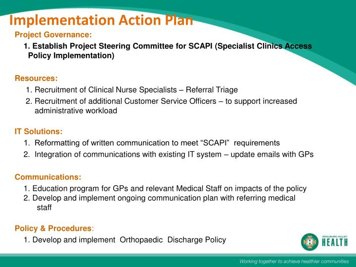 Implementation Action Plan