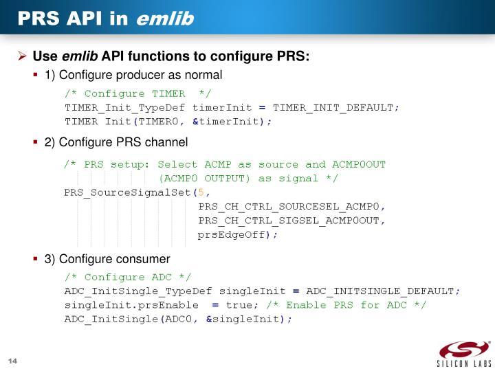 PRS API in