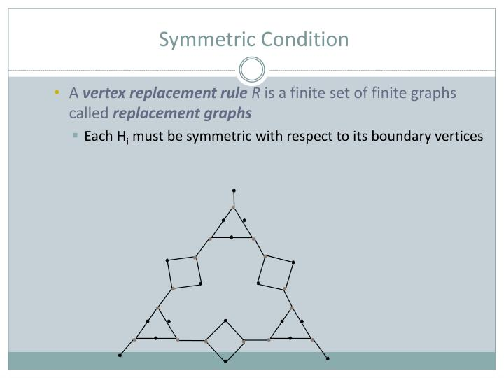 Symmetric Condition