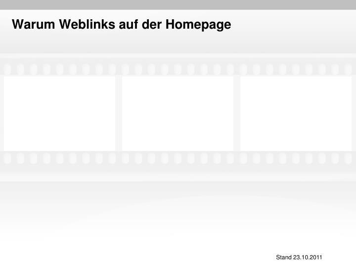 Warum Weblinks auf der Homepage
