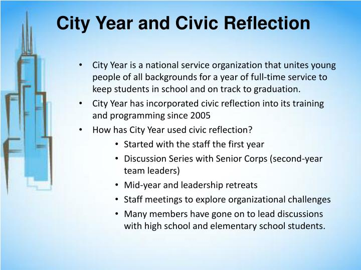City Year and Civic Reflection