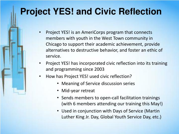 Project YES! and Civic Reflection