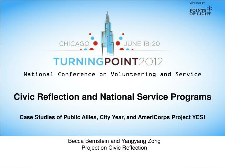 Civic Reflection and National Service Programs