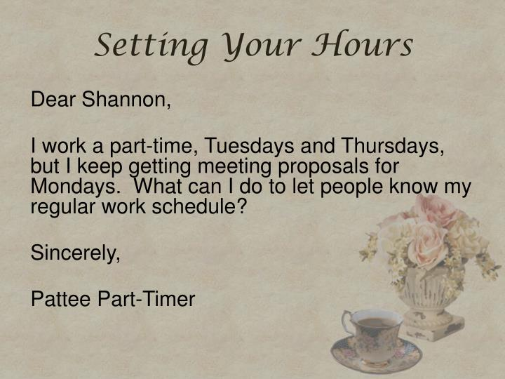 Setting Your Hours