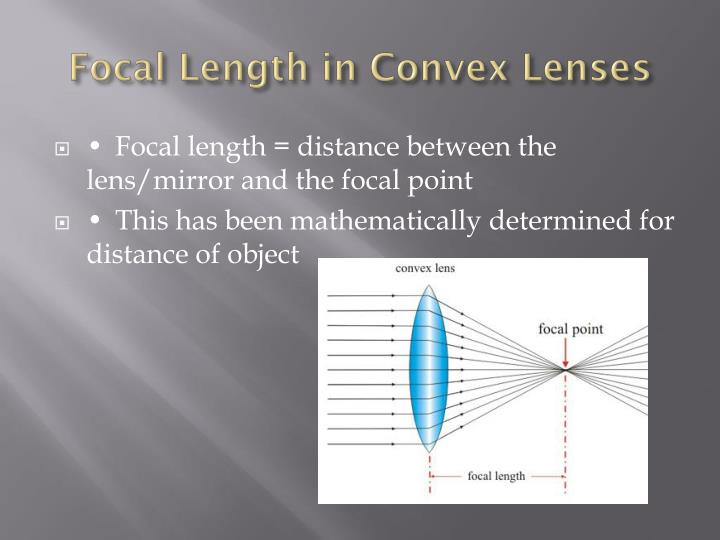 Focal Length in Convex Lenses
