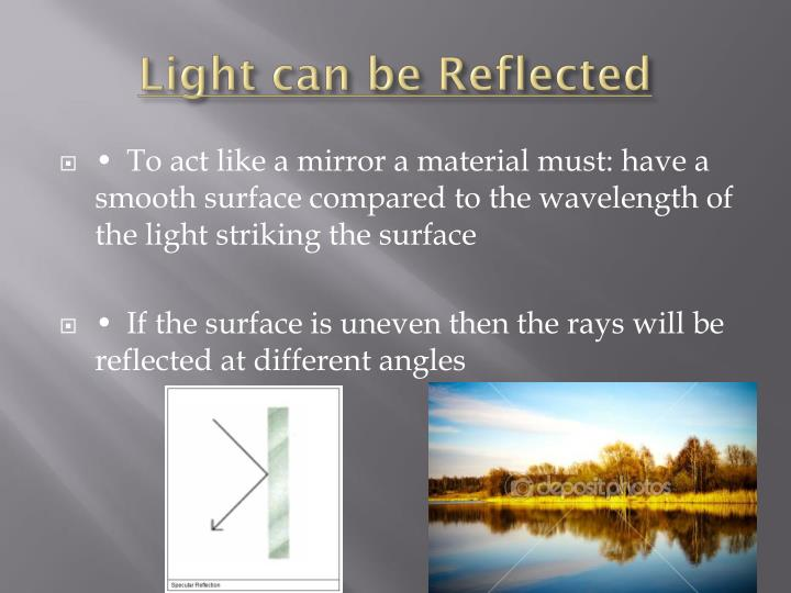 Light can be Reflected