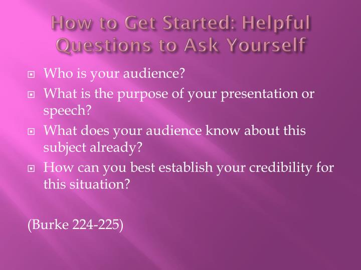 How to Get Started: Helpful Questions to Ask Yourself