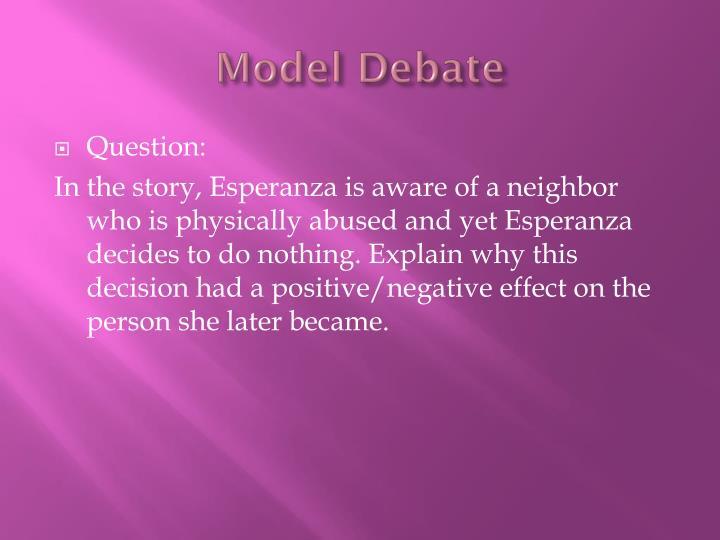 Model Debate