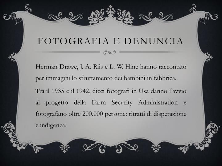Fotografia e denuncia