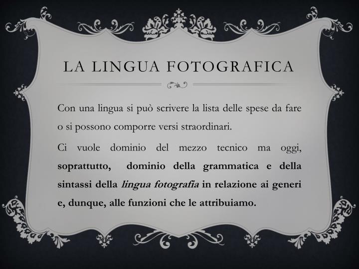 La lingua fotografica