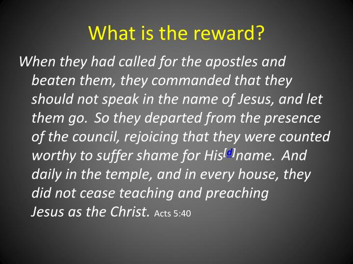 What is the reward?
