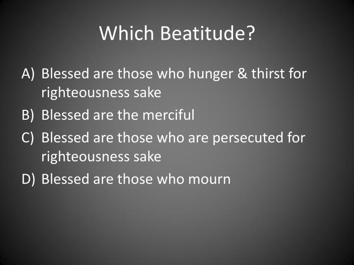 Which beatitude