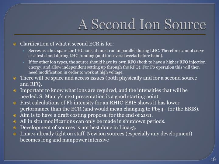 A Second Ion Source