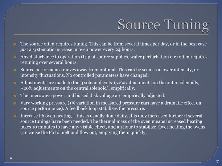 Source Tuning