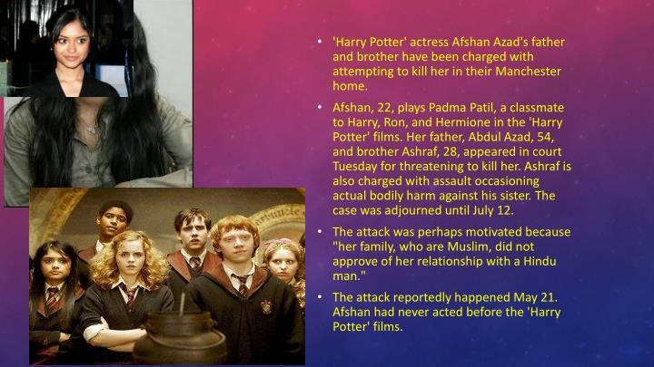'Harry Potter' actress