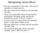 interpreting social effects