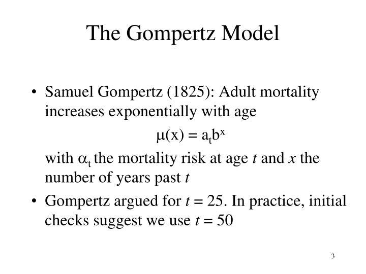 The Gompertz Model