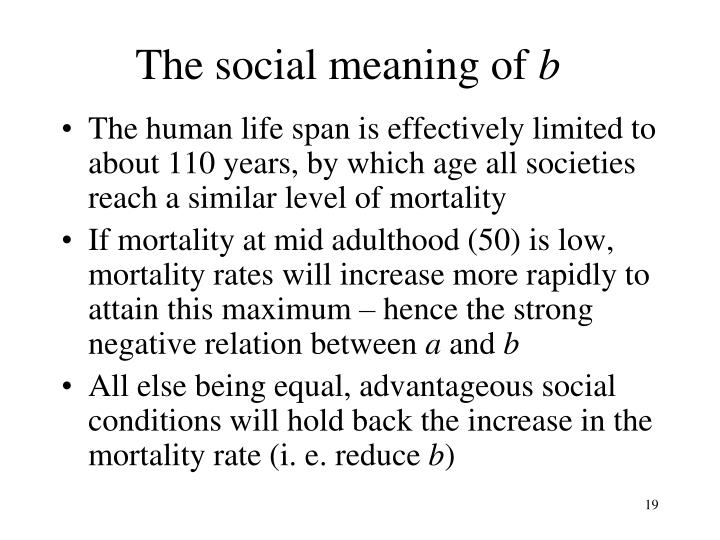 The social meaning of