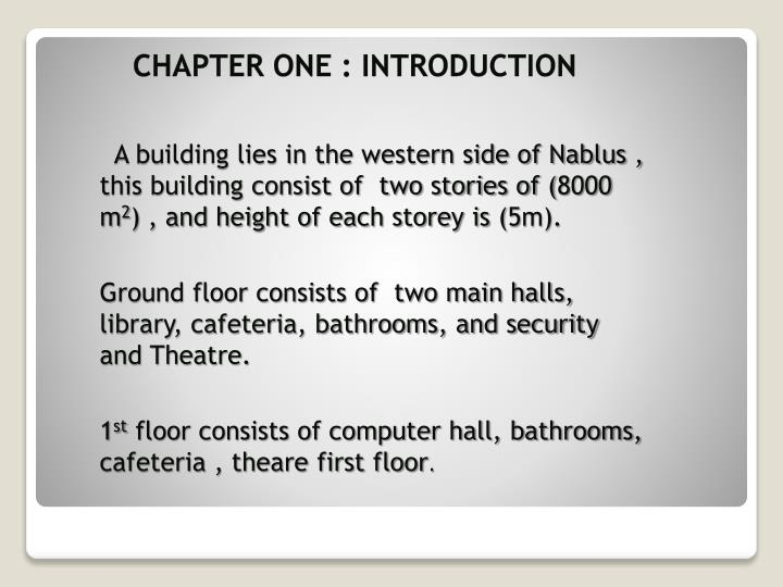 Chapter One : Introduction