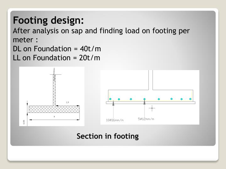 Footing design: